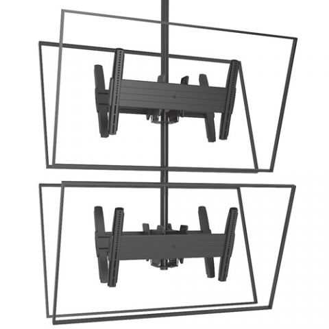 Chief FUSION'Ñ¢ Large Back-to-Back Stacked Ceiling Mounts by Chief
