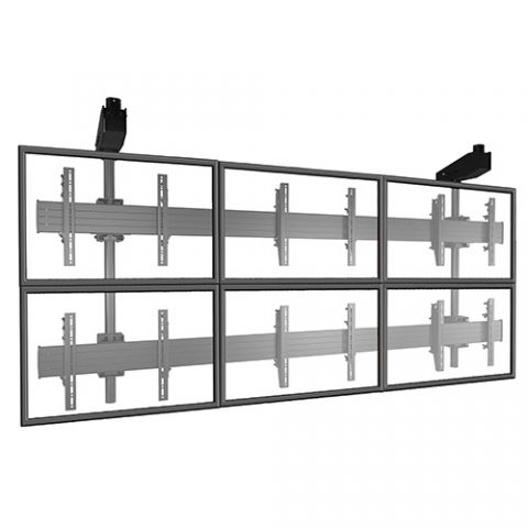 Chief FUSION'Ñ¢ Micro-Adjustable Large Ceiling Mounted 3 x 2 Video Wall Solutions by Chief