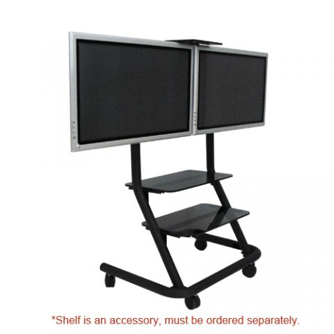 Chief Dual Display Video Conferencing Cart by Chief