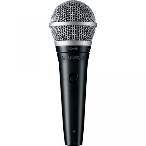 """Shure  PGA48 Dynamic Vocal Microphone (XLR to 1/4"""" Cable)   by Shure"""