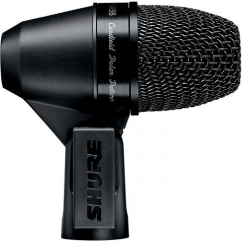Shure  PGA56-XLR Cardioid Dynamic Snare/Tom Microphone with Cable (15')   by Shure