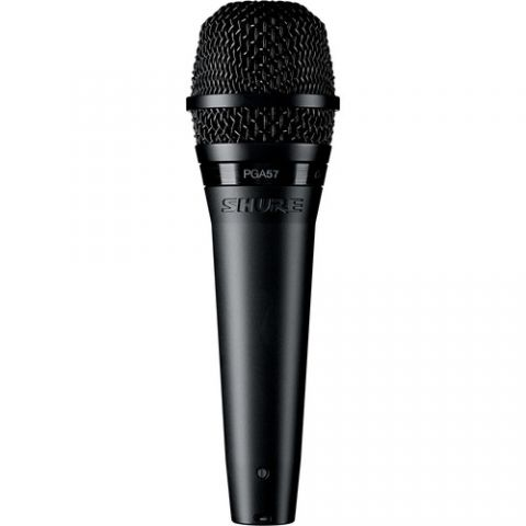Shure  PGA57-XLR Cardioid Dynamic Instrument Microphone with XLR Cable (15')   by Shure