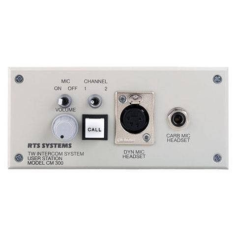 Telex CM-300L Console Mount User Station with A4F Headset Connector, 470Ohms Input Impedance by Telex