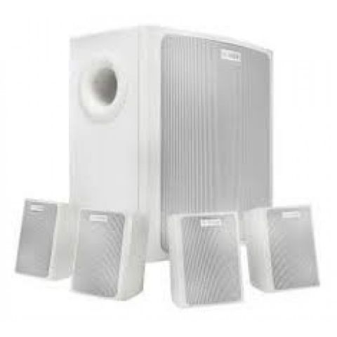 Bosch Compact Sound Speaker System, Includes 4x Surface Mount Satellite Speakers, 4x Wall Brackets, 4x Speaker Brackets, 2x Hex Wrench, White  by Bosch