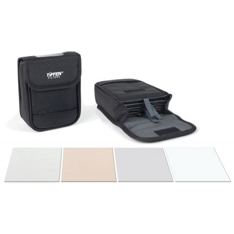 "Tiffen  4x4"" Film Look DV Kit (Black Diffusion FX 1/2, Black Pro Mist 1/2, Warm Black Diffusion FX 1/4, Soft FX 1 and a Soft Pouch)   by Tiffen"