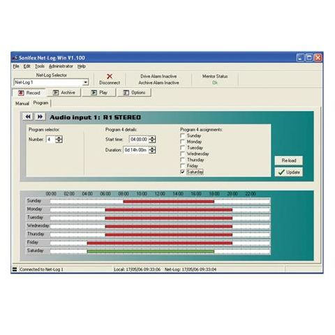 Sonifex Net-Log-Win Windows Software-2 Stream License for Net-Log Audio Logger by Sonifex