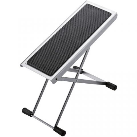 K&M 14670 Height-Adjustable Footrest (Nickel-Colored)  by K&M