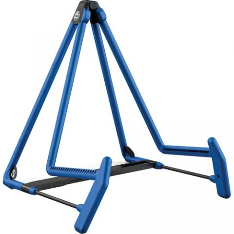 K&M 17580 Heli 2 Acoustic Guitar Stand (Blue)  by K&M