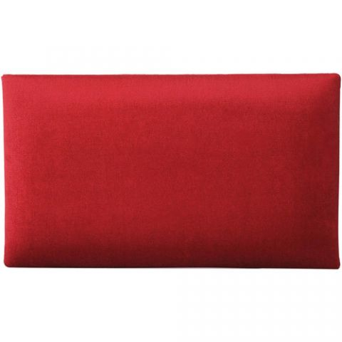 K&M 13802 Velvet Seat Cushion (Red)  by K&M