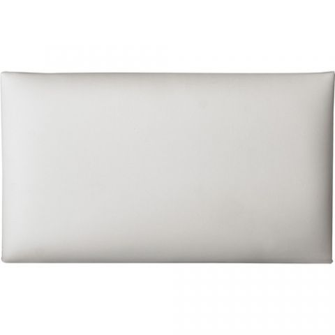K&M 13824 Imitation Leather Seat Cushion (White)  by K&M