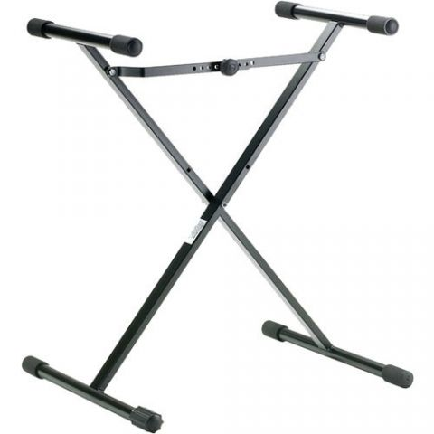 K&M 18969 X-Style Keyboard Stand for Kids (Black)  by K&M
