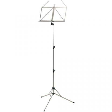 K&M 100/5 Music Stand (Nickel-Colored)  by K