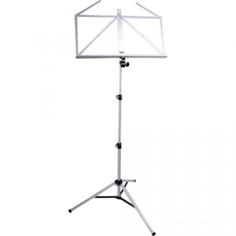 K&M 10065 Three-Piece Folding Sheet Music Stand (Silver Shadow)  by K