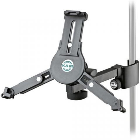 K&M 19791 Universal Tablet Holder Clamp On for Mic Stand (Black)  by K&M