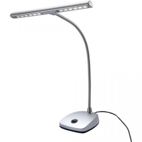 K&M 12297 LED Piano Lamp (Silver)  by K&M