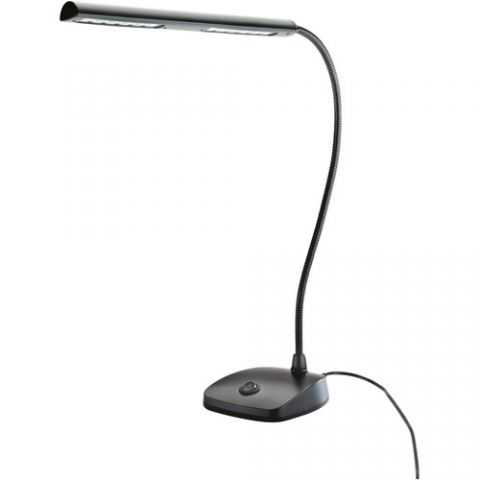 K&M 12296 LED Piano Lamp (Black)  by K