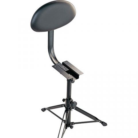 K&M 14042 Back Rest for Drummer's Throne - Imitation Leather (Black)  by K&M