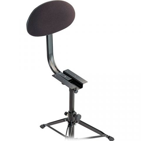 K&M 14043-000-55 Backrest for Drummer's Throne (Black Fabric)  by K&M