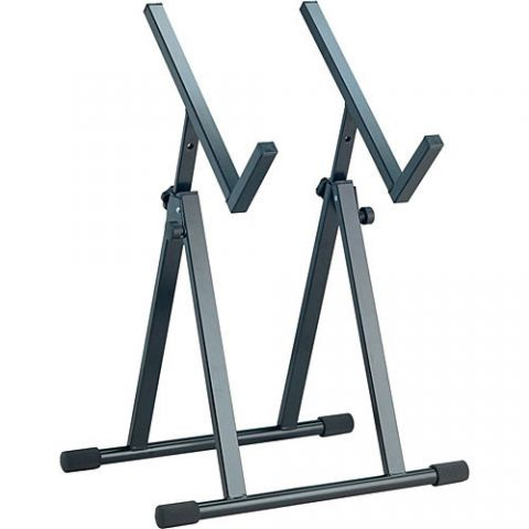 K&M 28101 Speaker Monitor and Amplifier Stand (Black)  by K