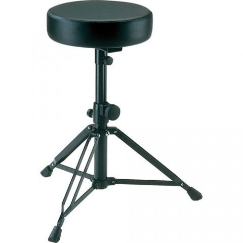 K&M 14015 Drummer's Throne - Imitation Leather (Black)  by K&M