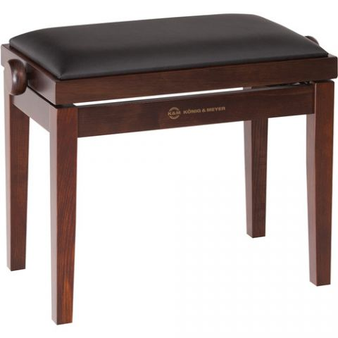 K&M 13720 Piano Bench Wooden Frame with Rosewood Matte Finish  by K&M
