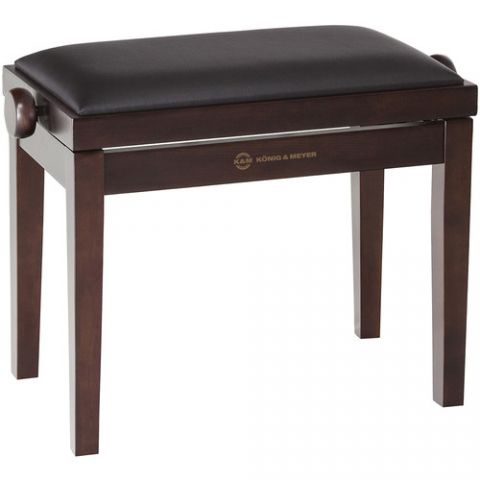 K&M 13730 Piano Bench Wooden Frame with Walnut Matte Finish  by K&M