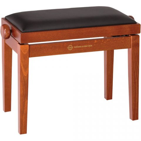 K&M 13740 Piano Bench Wooden Frame with Cherry Matte Finish  by K&M