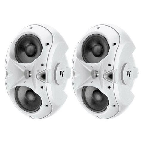 "Electro-Voice EVID-6.2T Dual 6"" Two-Way Surface-Mount Loudspeaker, Pair, White  by Electro-Voice"