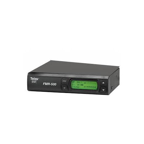 Telex FMR-500 UHF Synthesized PLL Wireless Microphone Receiver, Band A 648-676MHz Frequency Range, 1112 Selectable Channels, Balance XLR Output  by Telex