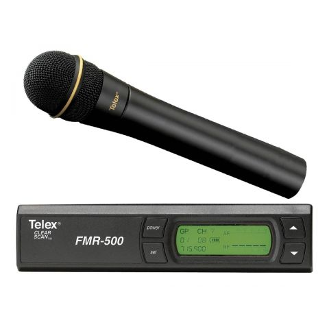 Telex FMR-500HD Wireless Microphone System, Includes FMR-500 Diversity Receiver, HT-500 Handheld Transmitter with N/D767a Mic Head, Band G Frequency  by Telex