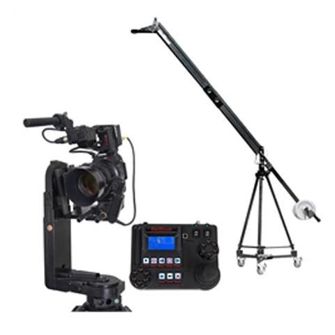 VariZoom VZ-QJ2K-CPJ3 Quick Jib Camera Crane with CPJR-K3 Remote Head and Advanced Console Controller, Includes Tripod and Dolly by VariZoom
