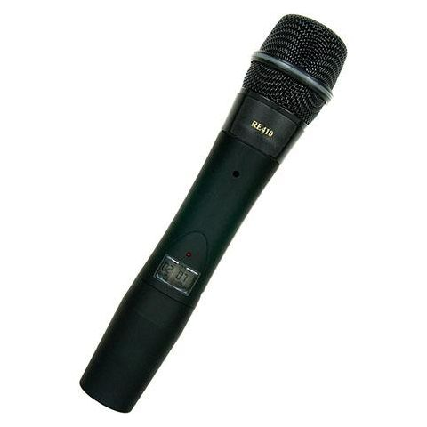Electro-Voice HTU2C-410-A 1112 Channel Wireless Handheld Transmitter with RE410 Cardioid Condenser Microphone Head, A Band: 648-676MHz  by Electro-Voice