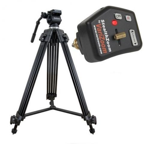 VariZoom VZTK75A-STEALTH Video camera tripod lanc control kit by VariZoom