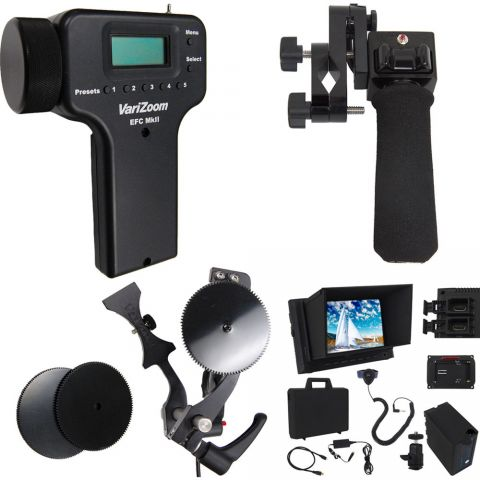VariZoom VZ-UEFZ-PGC monitor + zoom + electronic focus control for Canon lens by VariZoom