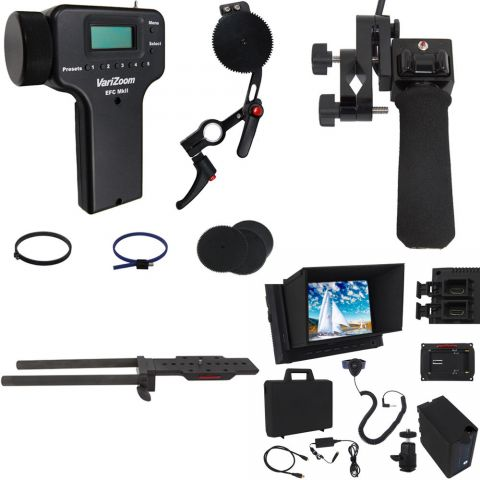 VariZoom VZ-UEFZ-PGX Zoom, Electronic Focus, Monitor Kit for Sony PXW-200, PMW-300 by VariZoom
