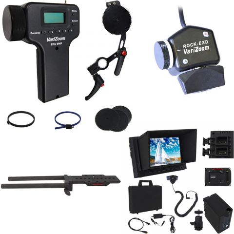 VariZoom VZ-UEFZ-RX Zoom, Electronic Focus, Monitor Kit for Sony PXW-200, PMW-300 by VariZoom