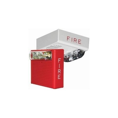 Bosch ASWP-2475W-FR Horn/Strobe, 24 V, 75 C Outdoor, Red by Bosch Security