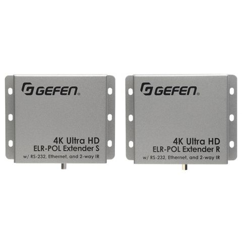 Gefen EXT-UHD-CAT5-ELRPOL 4K Ultra HDMI Extender Using One CAT5E Cable by Gefen