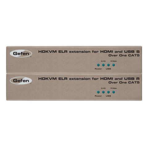Gefen EXT-HDKVM-ELR Extender for HDMI and USB over One Cat5 by Gefen