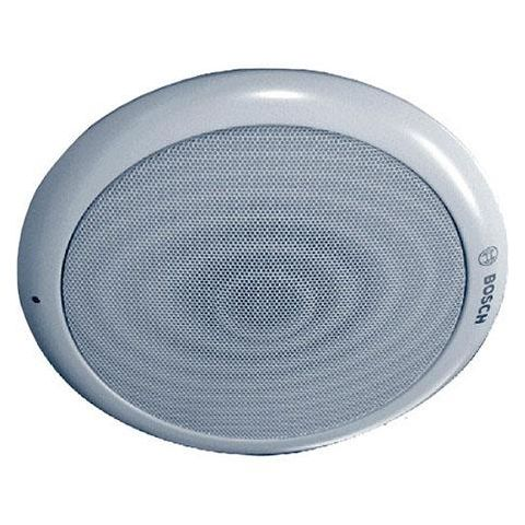 Bosch LC1-UM06E8 Round Modular Ceiling Loudspeaker, 6 W Rated Power, 97/89 dB SPL, 70Hz-20kHz Frequency, 835/1667 Ohms Rated Impedance, Single, White  by Bosch