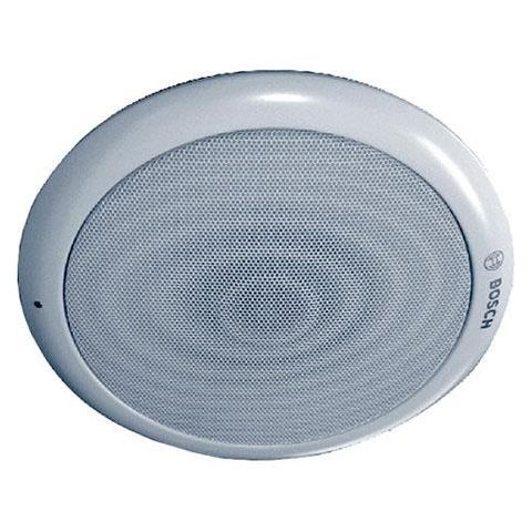 Bosch LC1-WM06E8 Round Modular Ceiling Loudspeaker, 6 W Rated Power, 96/88 dB SPL, 85Hz-20kHz Frequency, 835/1667 Ohms Rated Impedance, Single, White  by Bosch