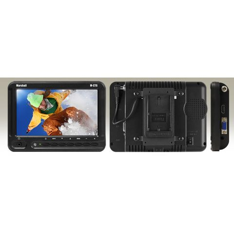 """Marshall Electronics M-CT6-CE6 6.2"""" TFT LCD HDMI LED Backlight Camera Top Monitor w Canon LP-E6 Battery Assembly  by Marshall Electronics"""