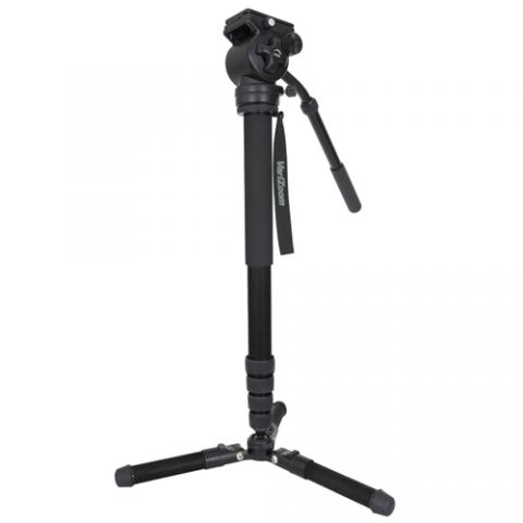 VariZoom CHICKENFOOTHEAD-AL ChickenFoot Aluminum Monopod with Fluid Head by VariZoom