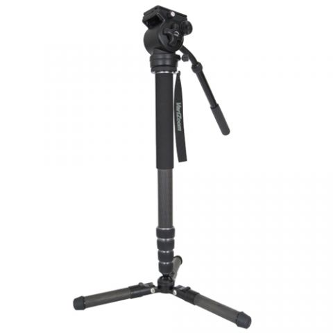 VariZoom CHICKENFOOT-HEAD ChickenFoot Carbon Fiber Monopod with Fluid Head by VariZoom