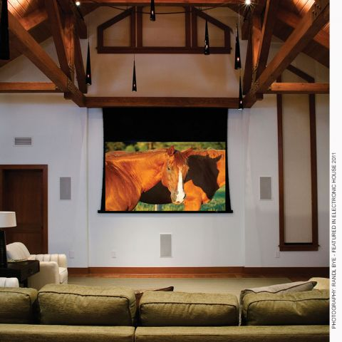 Draper 140008 Access/Series V Motorized Screens, 8' x 10', AV, Matt White XT1000V, 110 V by Draper
