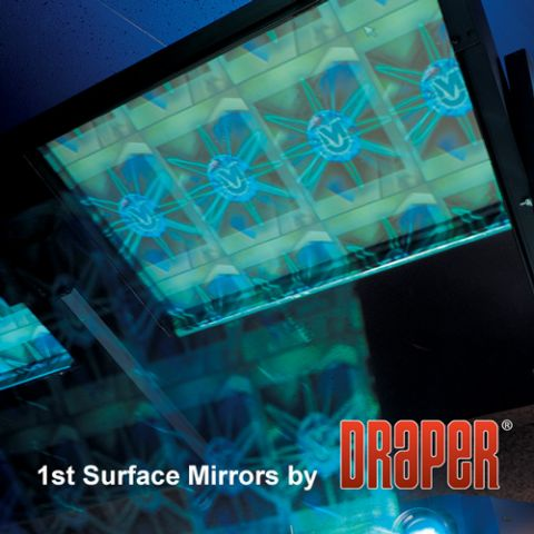 "Draper 254014 First Surface Mirror with Frame Rear Screen Systems, 48"" x 60"", Rear Projection by Draper"