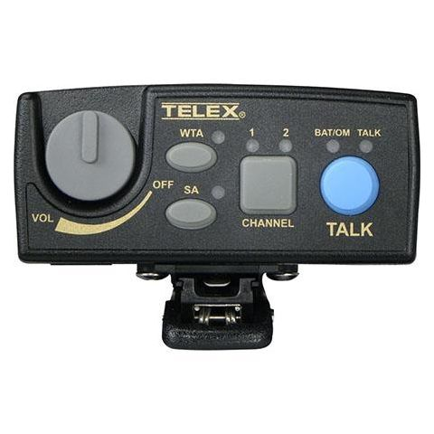Telex RTS TR-80N Narrow Band UHF 2-Channel Wireless Synthesized Portable Beltpack Transceiver, A4F Headset Jack, F5: 482-500MHz Receive/686-698MHz Transmit  by Telex