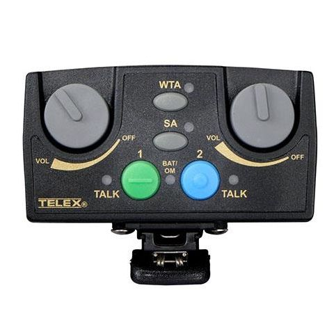 Telex RTS TR-82N Narrow Band UHF 2-Channel Binaural Wireless Synthesized Beltpack Transceiver, A5M Headset Jack, F4: 482-500MHz Receive/668-686MHz Transmit  by Telex