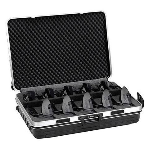 Bosch Suitcase for 10 CCS900 Delegate Units with Silver Rim, Black  by Bosch