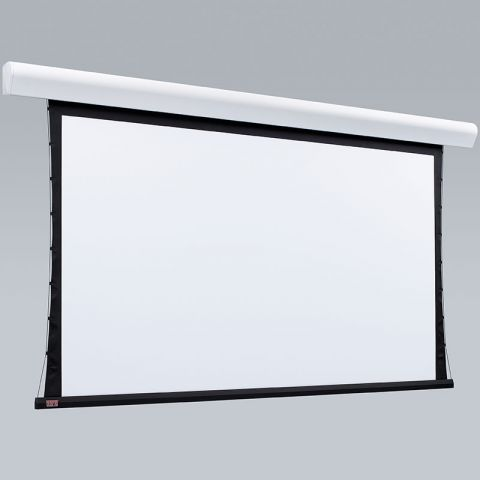 """Draper 107345QU Silhouette/Series V Motorized Screens, 94"""", 16:10, Grey XH600V, 110 V with Quiet Motor & LVC-IV Low Voltage Controller by Draper"""